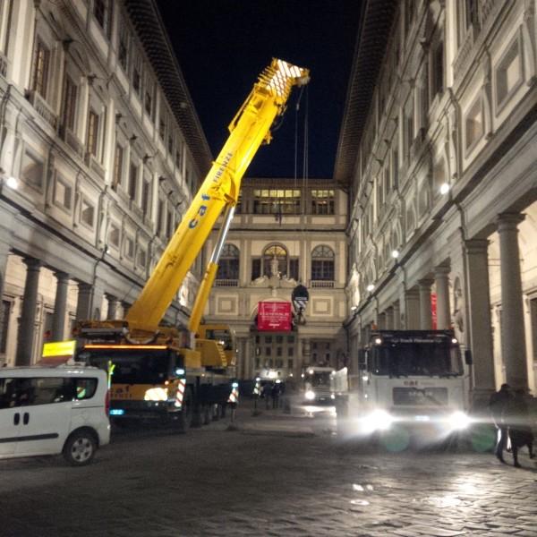 MAZZONICLIMA entra al museo degli Uffizi